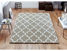 Arabesque Beige Rug 02 Roomshot