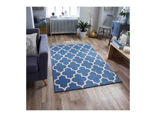 Arabesque Denim Blue Rug 02 Roomshot