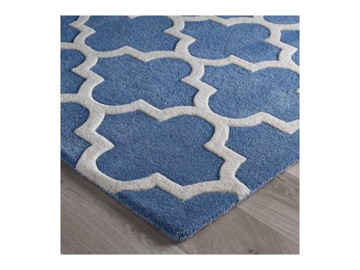 Arabesque Denim Blue Rug 10 Detail