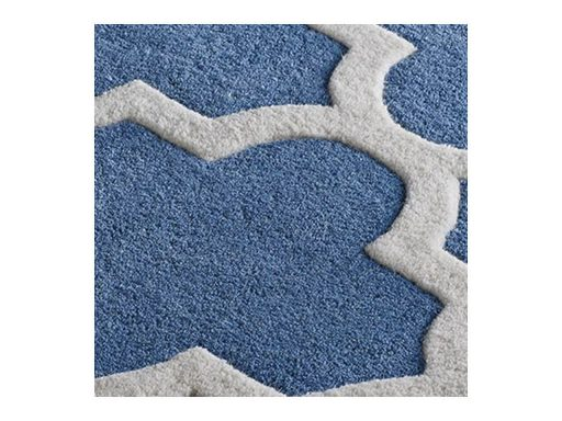 Arabesque Denim Blue Rug 11 Detail