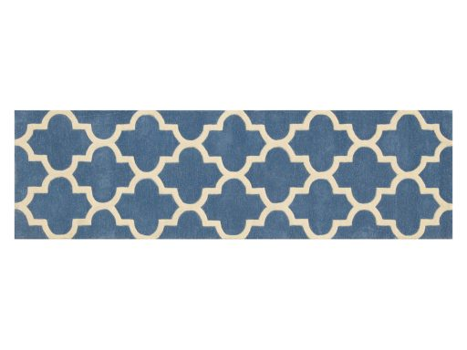 Arabesque Denim Blue Rug 20 Runner