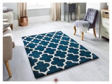Arabesque Emerald Rug 02 Roomshot