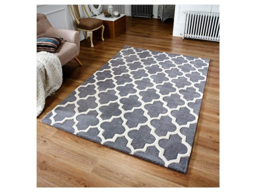 Arabesque Grey Rug 02 Roomshot