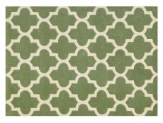 Arabesque Sage Green Rug 01 Overhead