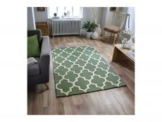 Arabesque Sage Green Rug 02 Roomshot