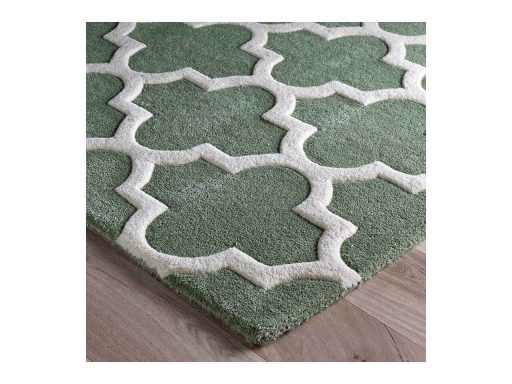 Arabesque Sage Green Rug 10 Detail