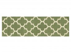 Arabesque Sage Green Rug 20 Runner