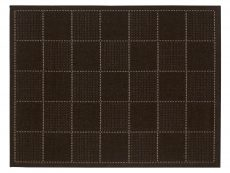 Checked Flatweave Black Rug 01 Overhead