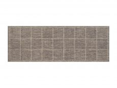 Checked Flatweave Grey Rug 20 Runner
