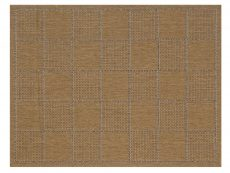 Checked Flatweave Natural Rug 01 Overhead