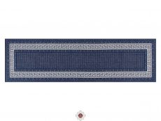 Greek Key Flatweave Blue Rug 20 Runner