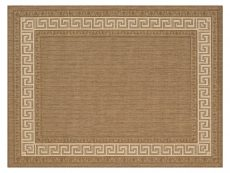 Greek Key Flatweave brown Rug 01 Overhead