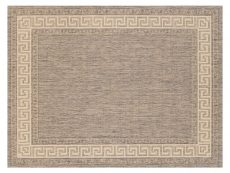 Greek Key Flatweave Grey Rug 01 Overhead