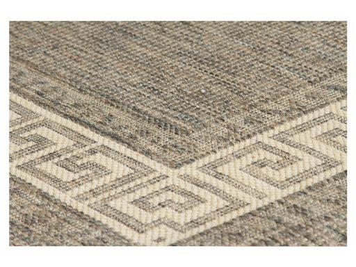 Greek Key Flatweave Grey Rug 11 Detail