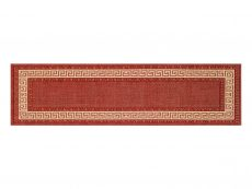 Greek Key Flatweave Red Rug 20 Runner