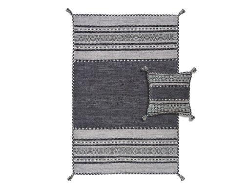 Kelim Charcoal Rug 60 Set