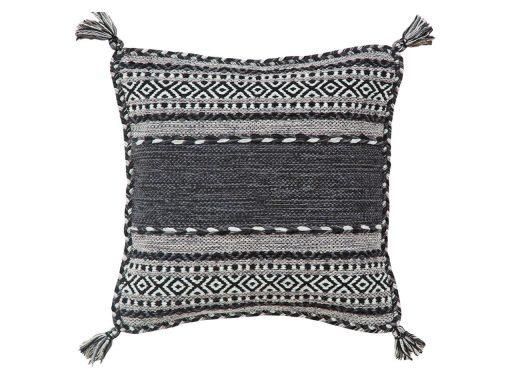Kelim Charcoal Rug 61 Cushion