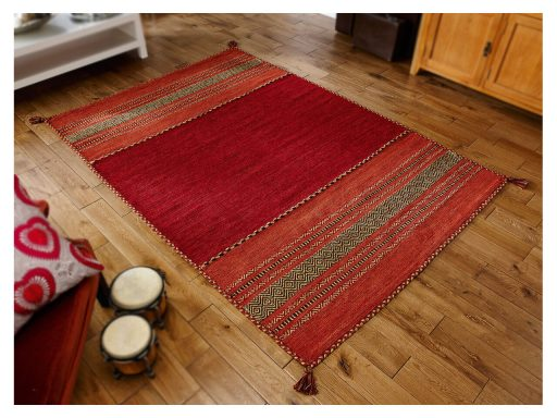 Kelim Red Rug 02 Roomshot