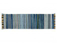Kelim Stripe Blue Rug 20 Runner