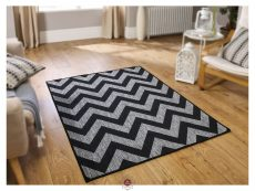 Moda Chevron Black Rugs 02 Roomshot