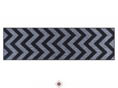 Moda Chevron Black Rugs 20 Runner