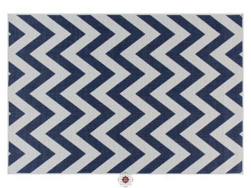 Moda Chevron Blue Rugs 01 Overhead
