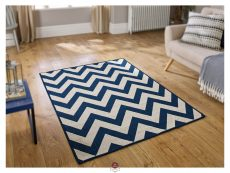 Moda Chevron Blue Rugs 02 Roomshot