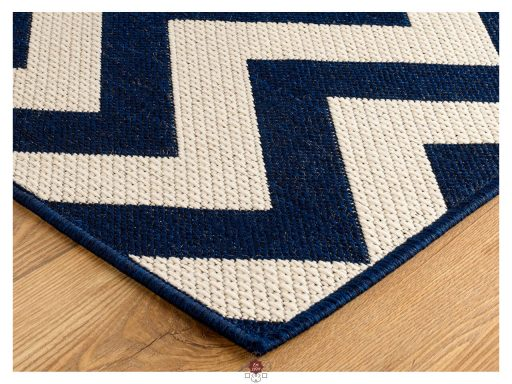 Moda Chevron Blue Rugs 10 Detail