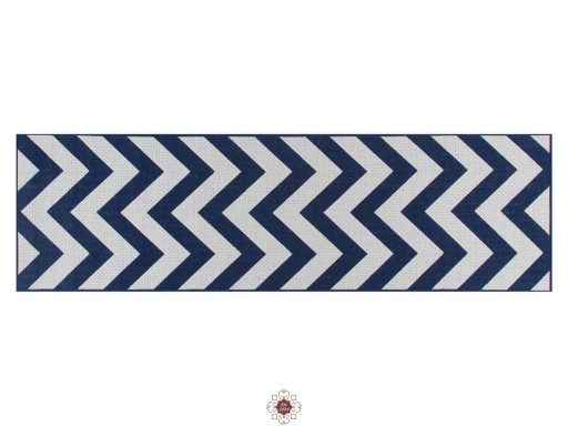 Moda Chevron Blue Rugs 20 Runner