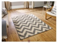 Moda Chevron Grey Rugs 02 Roomshot