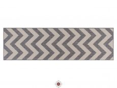 Moda Chevron Grey Rugs 20 Runner