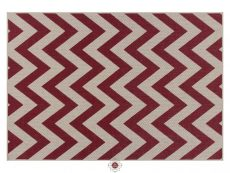 Moda Chevron Red Rugs 01 Overhead