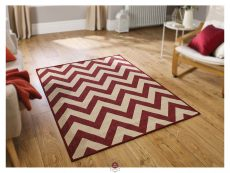 Moda Chevron Red Rugs 02 Roomshot