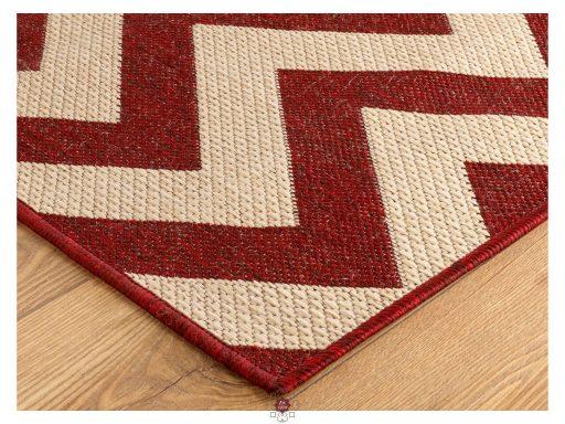 Moda Chevron Red Rugs 10 Detail