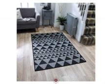 Moda Prism Black Rugs 02 Roomshot