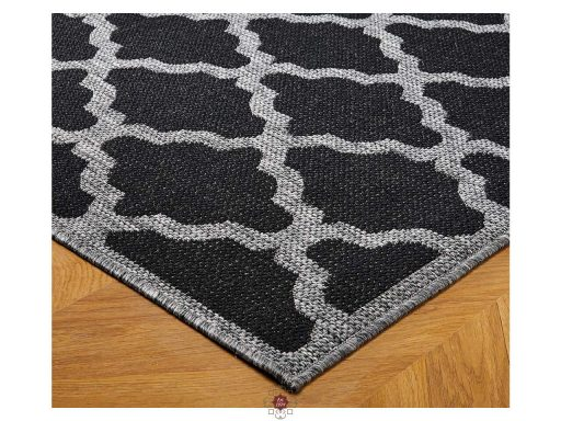 Moda Trellis Black Rugs 10 Detail