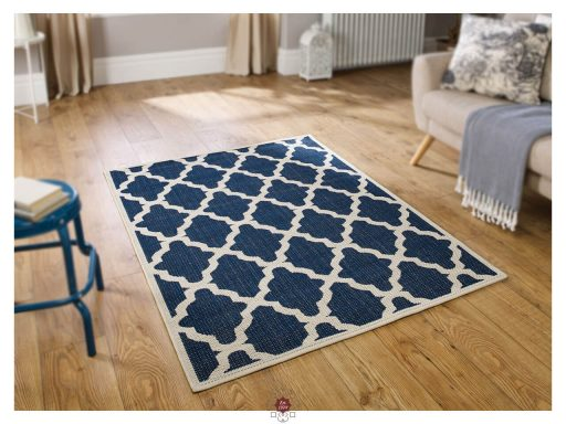 Moda Trellis Blue Rugs 02 Roomshot