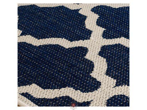 Moda Trellis Blue Rugs 11 Detail