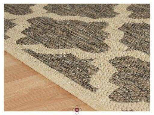 Moda Trellis Grey Rugs 10 Detail