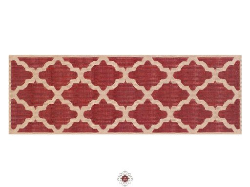 Moda Trellis Red Rugs 20 Runner