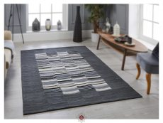 Navajo Stripe Grey Rugs 02 Roomshot