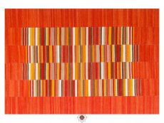 Navajo Stripe Red Rugs 01 Overhead