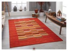 Navajo Stripe Red Rugs 02 Roomshot