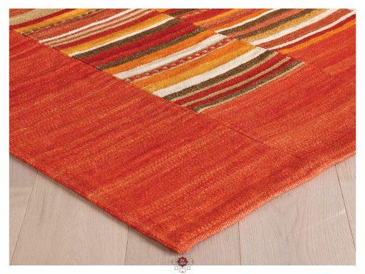 Navajo Stripe Red Rugs 10 Detail