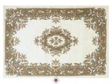 Royal Cream Beige Rug 01 Overhead