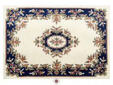 Royal Cream Blue Rug 01 Overhead