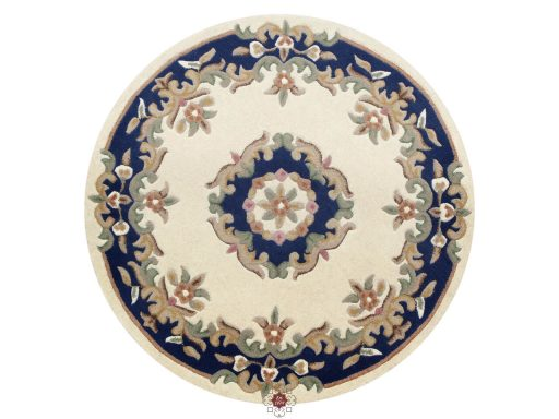 Royal Cream Blue Rug 30 Circle
