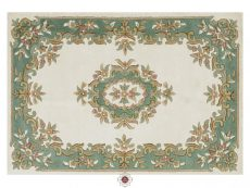 Royal Cream Green Rug 01 Overhead
