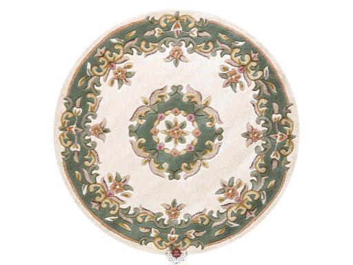 Royal Cream Green Rug 30 Circle