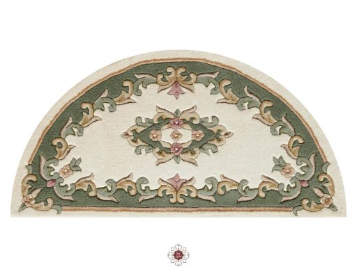Royal Cream Green Rug 50 Half Moon